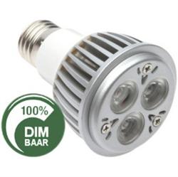 Afbeelding van 3x2Watt - E27 spot - CREE LED vervangt 40 Watt