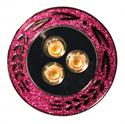 Afbeelding van PROLuxe - 230v inbouw series 3x2W Edison LED 2700K - PurpleLove