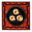 Afbeelding van PROLuxe - 230v inbouw series 3x2W Edison LED 2700K - BrownGriek