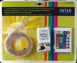 Afbeelding van Siliconen LED strip 1,0 meter RGB Basiskit 7,2 Watt - IL-LSKITRGB