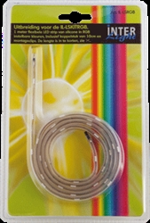 Afbeelding van Siliconen LED strip 1,0 meter RGB Uitbreiding 7,2 Watt - IL-LSRGB