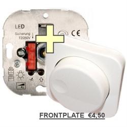 Afbeelding van L+R TRIAC dimmer voor 230v LED Lampen - PLUS merkloos frontje
